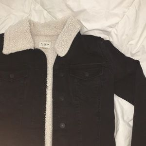 Pacsun Wool Lined Denim Jacket